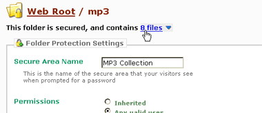 Autehlo website password protection screenshot